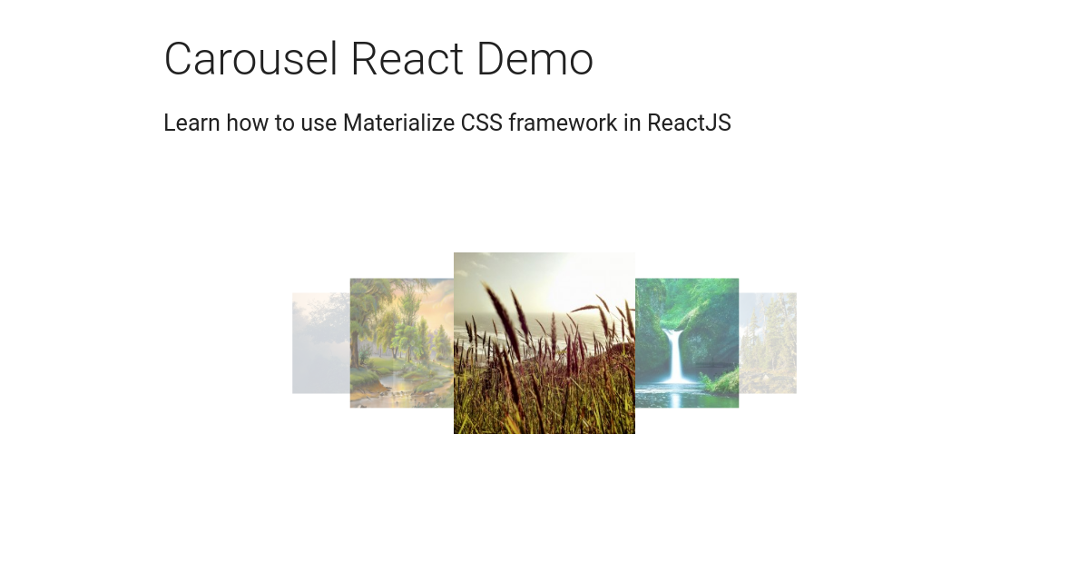 React Materialize Carousel