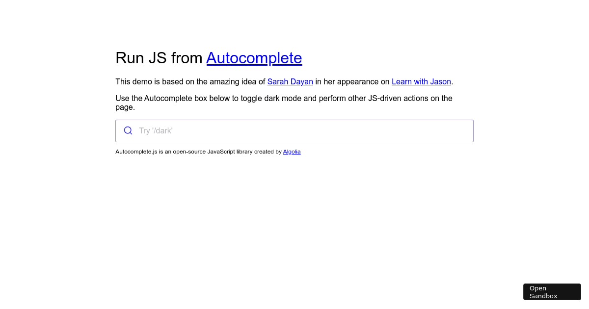 Autocomplete actions finished
