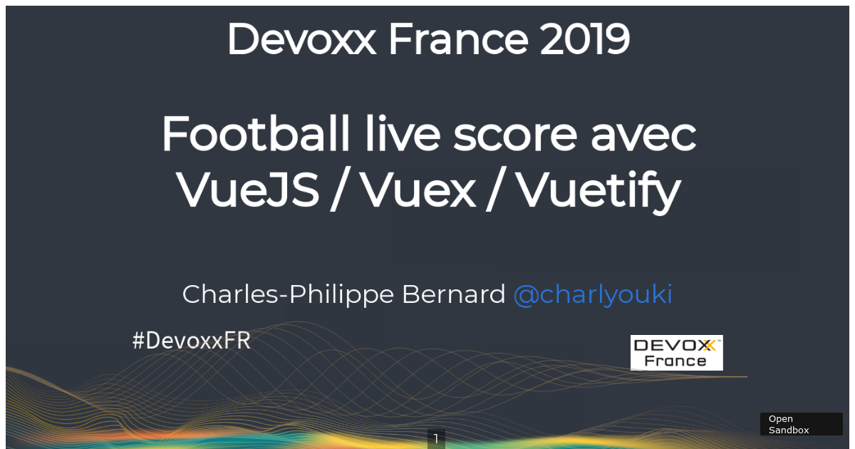 FOOTBALL LIVE SCORE AVEC VUE JS / VUEX / VUETIFY - CodeSandbox