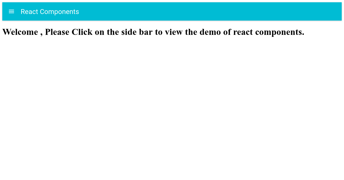 React Drawer Demo
